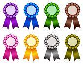 Premio cinta rosetón multicolor