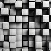Abstrato de cubos de concretos
