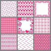 Nine Valentine Heart Patterns
