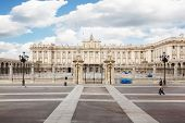 Palace of Spanish kings in Madrid is official residence of monarch in Madrid, Spain.