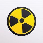 illustration of radiation symbol