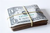 Photo of Bills - Tied dollar.