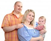foto of obese children  - Happy family together - JPG