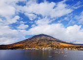 Mt. Nantai across from Lake Chuzenji in Nikko, Japan.