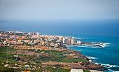 foto of canary-islands  - Panoramic view of Tenerife city in the Orotava valley on Tenerife Island - JPG