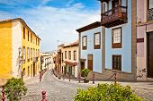Old street in la Orotava, Tenerife, Canary Islands. Spain.