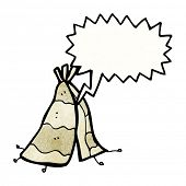 cartoon tepee tent