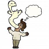 cartoon ghost possessing man