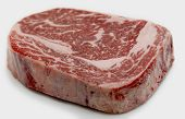 Ribeye steak from Australian Wagyu cattle. This is fram a Japanese breed of cattle which are famed f