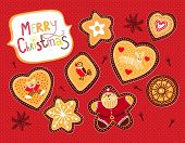 cute christmas scrapbook kit with cookies