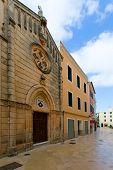 Ciutadella Menorca carrer Mao church downtown in Ciudadela Balearic Islands