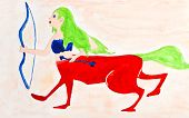 Children Drawing - Female Centaur