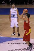 Basketball Player Shooting Free Throw
