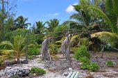 Aitutaki Beach Abandoned Hut
