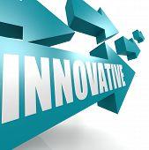 Innovative arrow blue