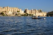 stock photo of rajasthani  - City Palace Udaipur India - JPG