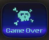 Постер, плакат: Game over tv game Skull and Crossbones