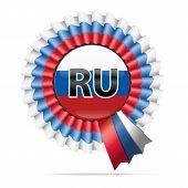 Vector national flag badge, RU