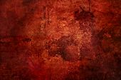 Red Grunge Background With Blood Stains Spread All Over