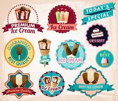 vector ice cream stickers