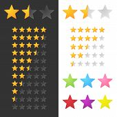 Rating Stars Set. Vector