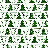 Seamless grunge christmas tree texture background