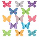 Colorful Butterflies Pattern Design