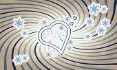 Vintage Wooden Heart Symbol