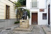 pic of rabbi  - Statue of Maimonides in Cordoba Spain - JPG
