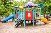 image of playground school  - A colorful playground equipment on the playground - JPG