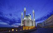 Qol Sharif mosque in Kazan Russia with night illumination