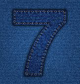 Jeans alphabet number 7