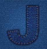 Jeans alphabet letter J