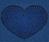 Jeans alphabet heart shape
