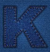 Jeans alphabet letter K