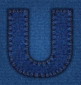 Jeans alphabet letter U