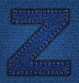 Jeans alphabet letter Z