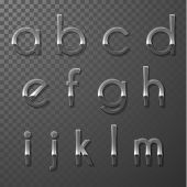 Glass ABC collection - lowercase version- part 3