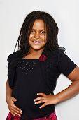 portrait of a little jamaican girl