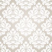 image of damask  - Damask seamless pattern for design - JPG