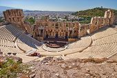 ancient theatre under Acropolis of Athens
