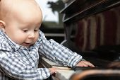 Beautiful Little Baby Boy Plays Piano