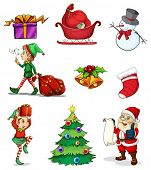 Illustration of the Christmas signs on a white background