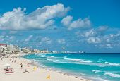 Cancun Beach Panorama, Mexiko
