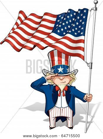 Uncle Sam Saluting The Us