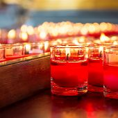 Red Candle In Glass