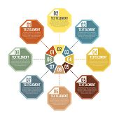 pic of octagon  - Vector illustration of octagon part infographic element - JPG