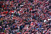 Crowd Of Soccer Fans Of Dinamo Bucharest