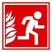 Fire evacuation vector sign