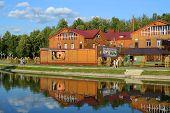 Tatarstan, Zelenodolsk. Cafe By The Lake